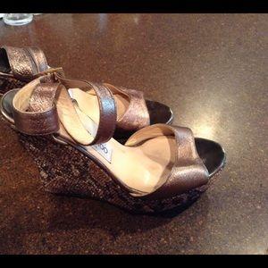 Jimmy Choo platform wedge heel shoes size 38